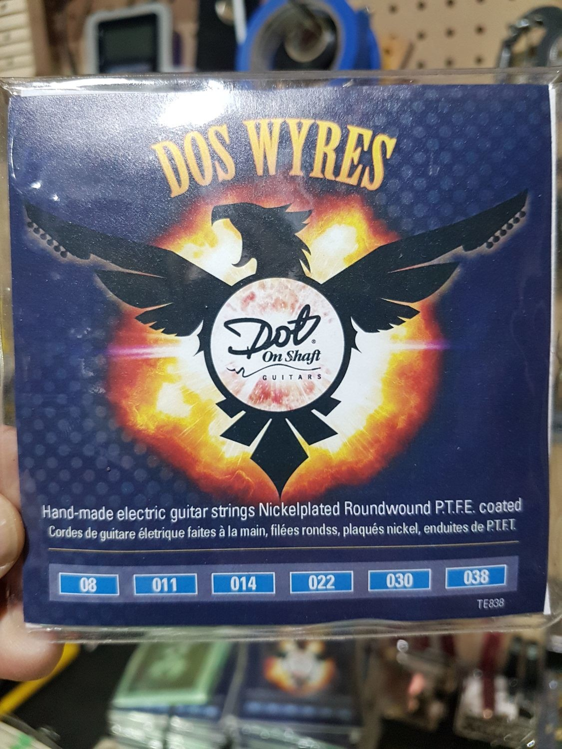 "7 Packs Bulk ""Dos Wyres"" Nickel Plated  PTFE Coated 8-38 Electric HandWounds"