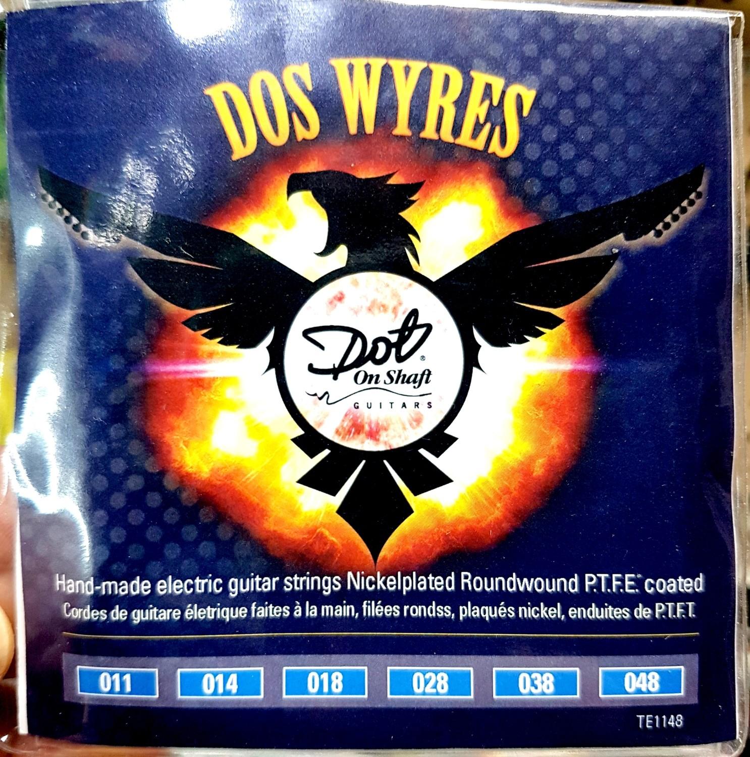 "5 Packs Bulk ""Dos Wyres"" Nickel Plated  PTFE Coated 11-48 Electric Hand Wound"