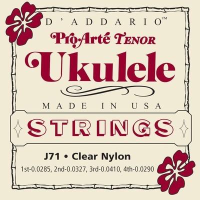5 Pack Bulk D'ADDARIO J71 PRO-ARTE TENOR UKULELE STRINGS