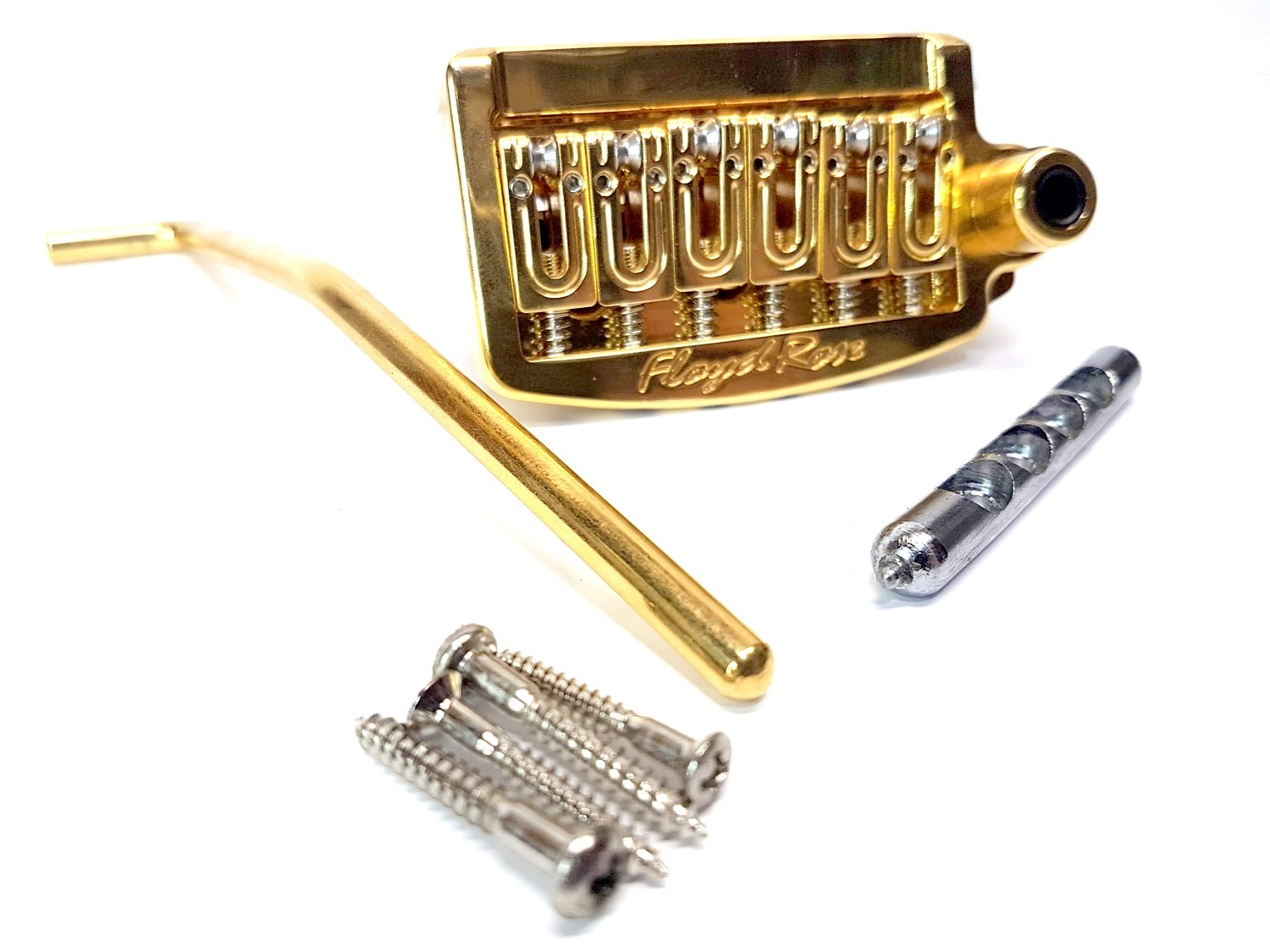 Floyd Rose RT300N Rail Tail Tremolo 4 Fender Stratocaster Type Guitars Narrow String Spacing GOLD