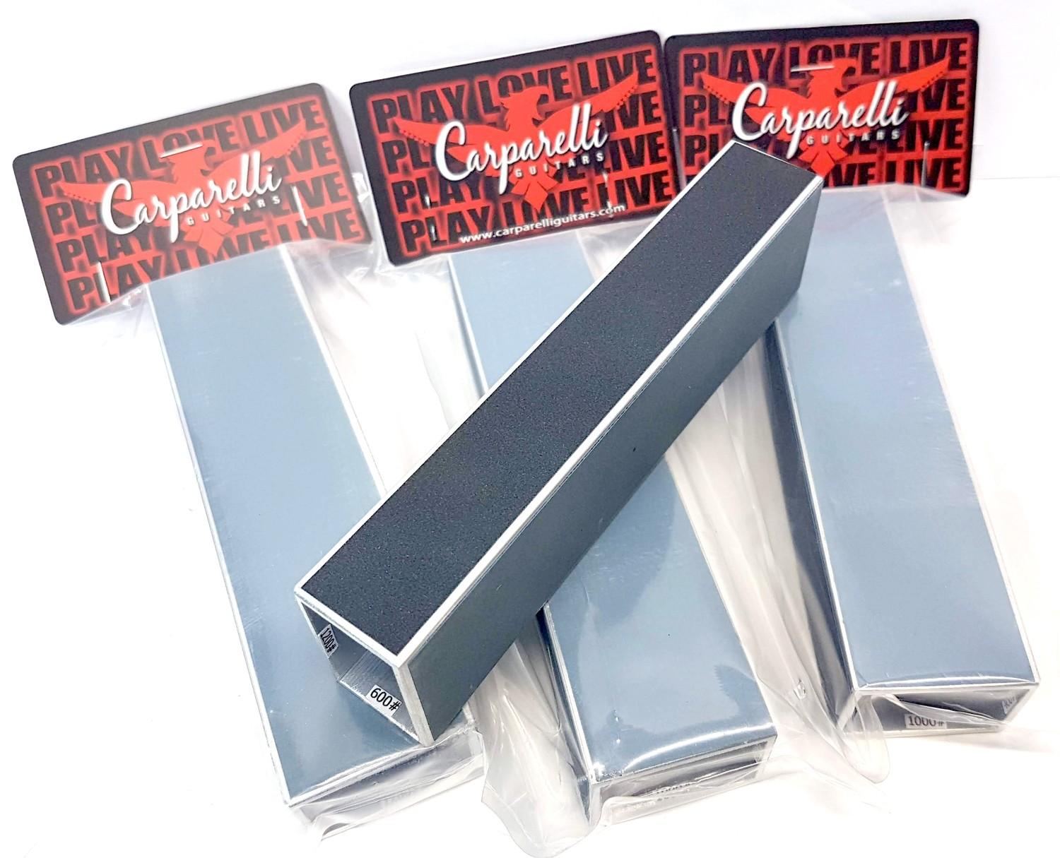 "6"" Guitar Bass Fret Leveling Files With Self-adhesive Sandpaper 400# 600# 1000# 1200# Grit"