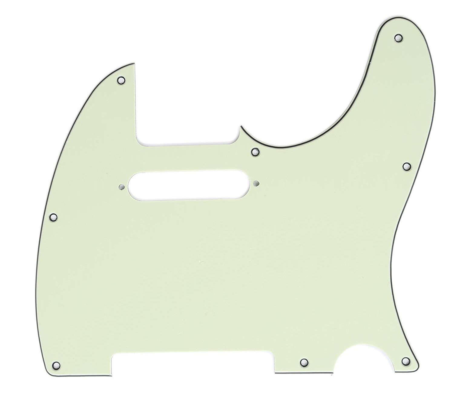 Carparelli 8 Hole Guitar Tele® Pickguard RH  3 Ply Mint