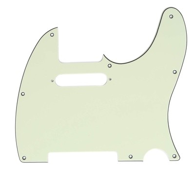 Brio 8 Hole Guitar Tele® Pickguard RH  3 Ply Mint