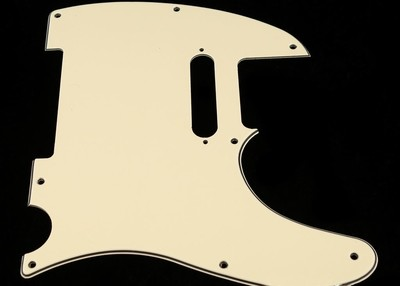 Brio 8 Hole Guitar Tele® Pickguard RH  3 Ply Cream