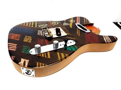 Carparelli One of a Kind 2pc Alder Custom Hand Painted Nitro sides and back Hardware Loaded