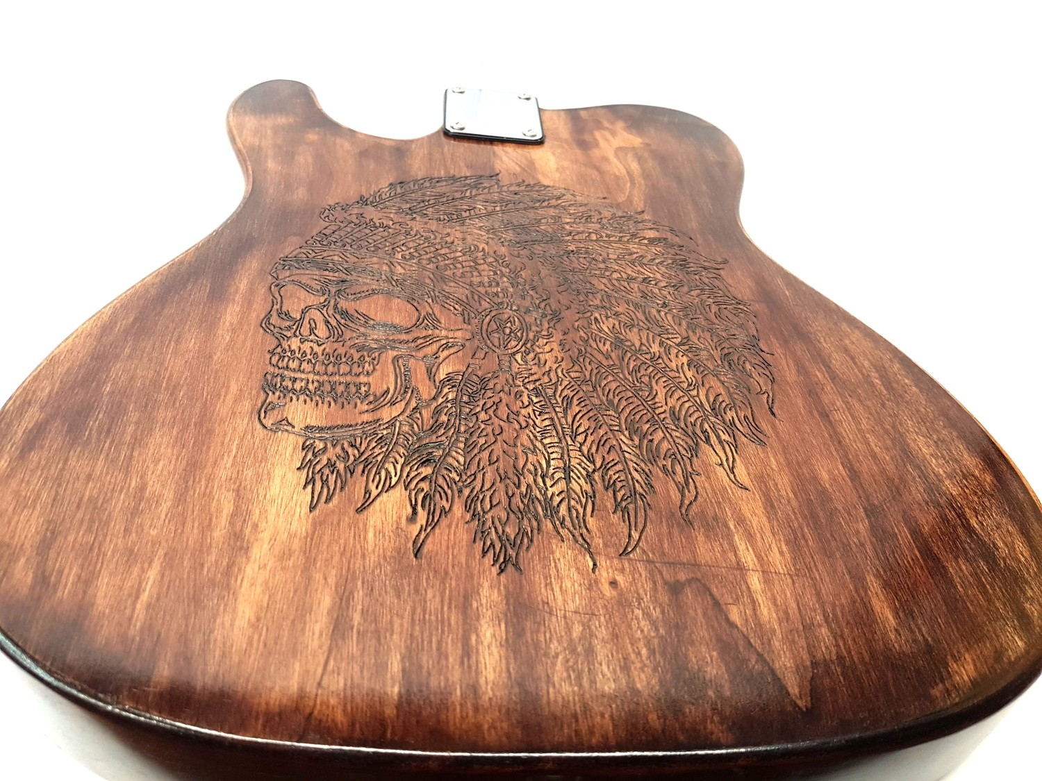 Carparelli Loaded One of a Kind, 2Pc Alder Body Hand Engraved Custom- NO PICKUPS
