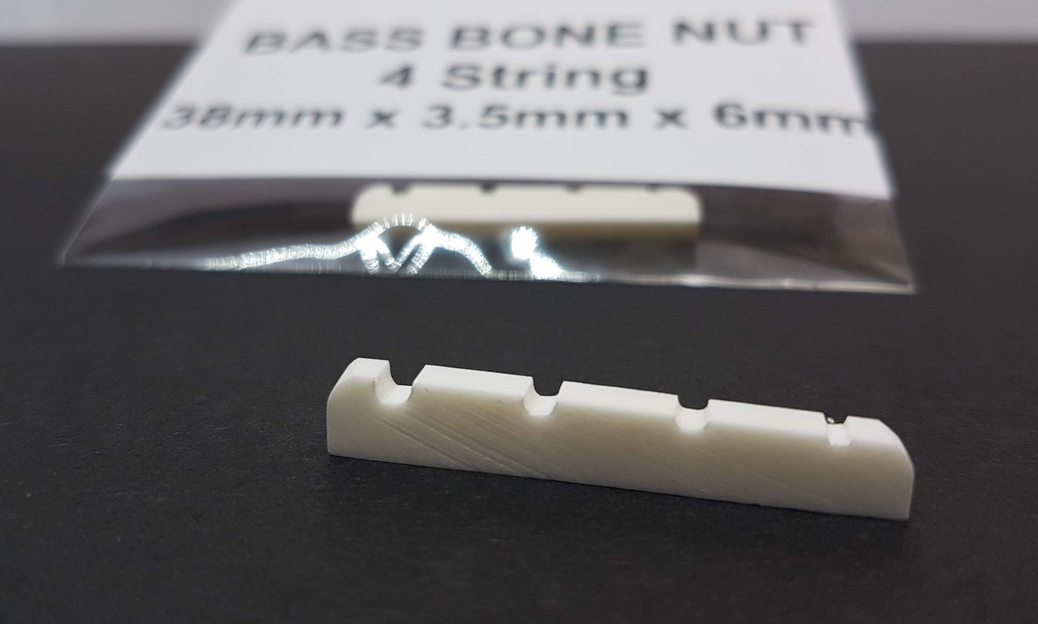 4 String Bass Bone Nut 38mm