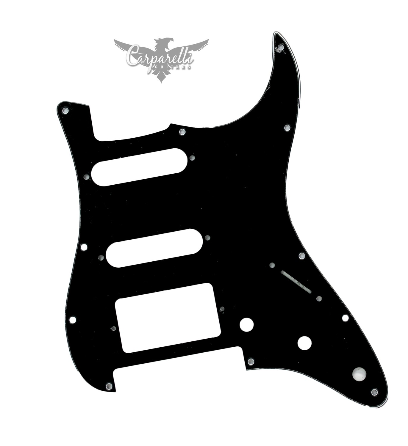 Carparelli HSS Floyd Rose Cut for Fender Strat 3 Ply Black