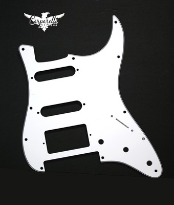 Carparelli HSS Floyd Rose Cut for Fender Strat 3 Ply White