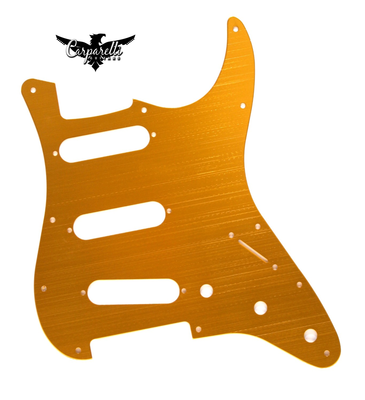 Carparelli Anodized Aluminum Pickguard for SSS Stratocaster® Gold