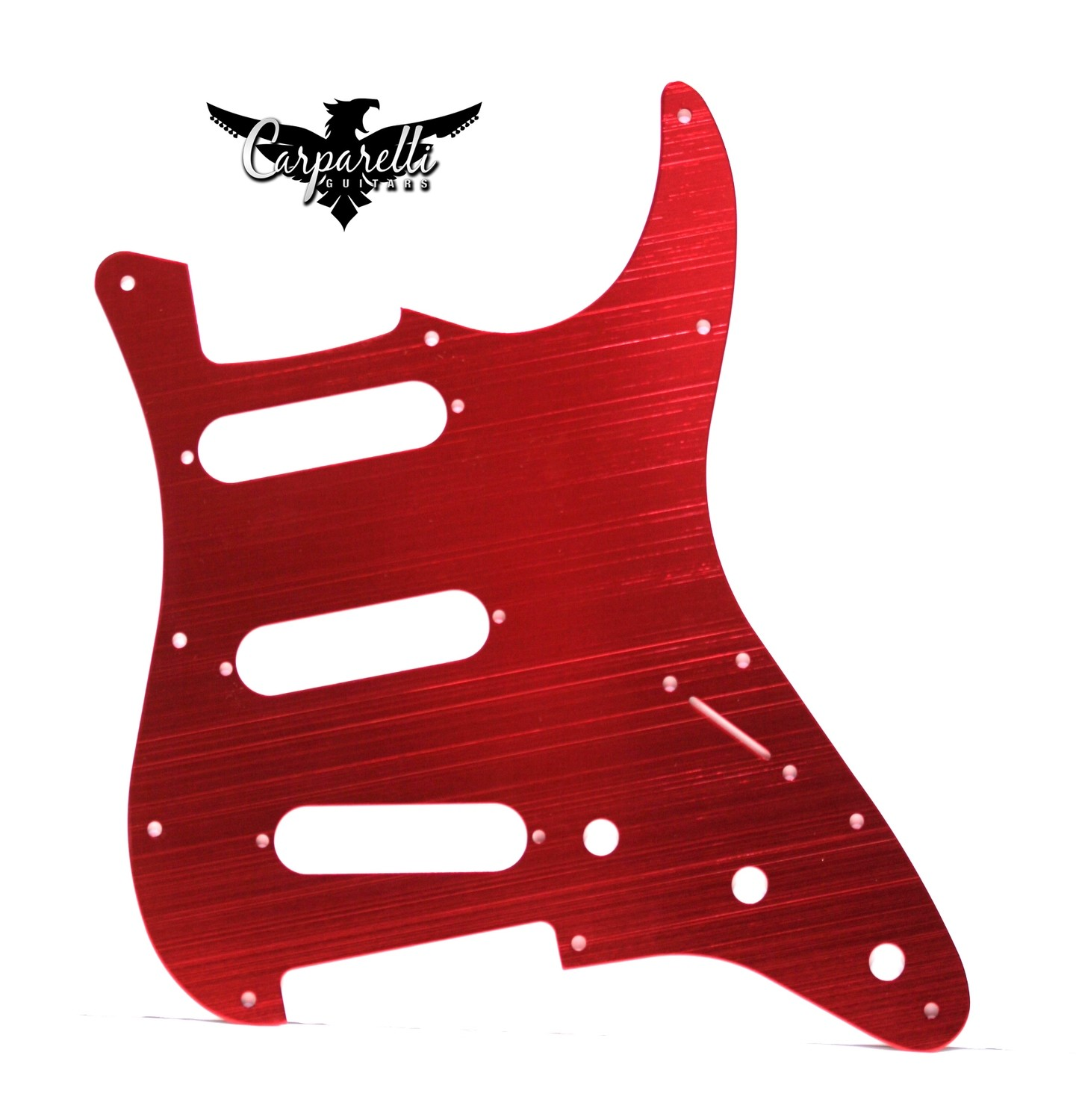 Carparelli Anodized Aluminum Pickguard for SSS Stratocaster® Red