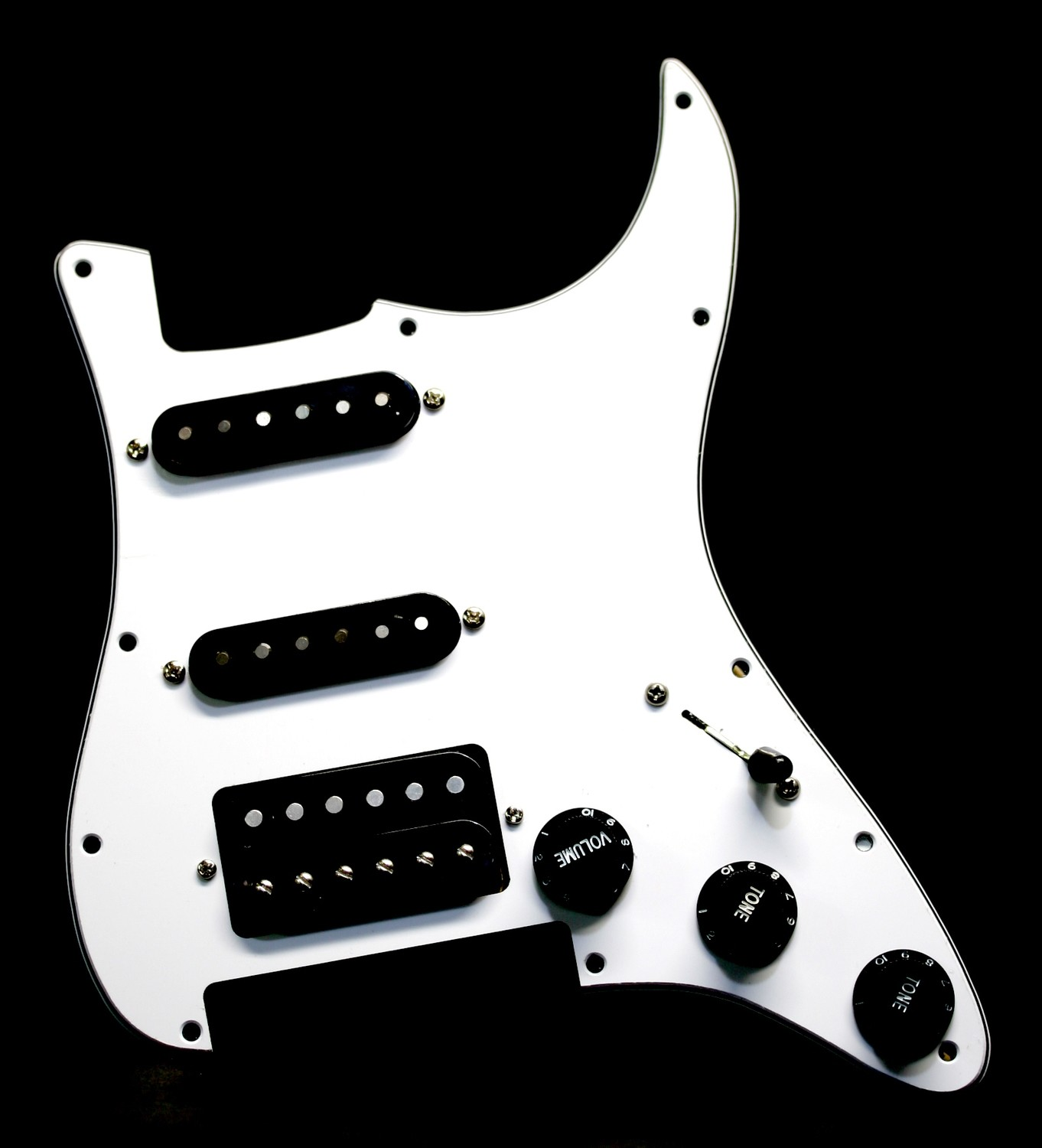 Carparelli HSS White Floyd Rose® Strat® 11 Hole Fully Loaded Pickguard White