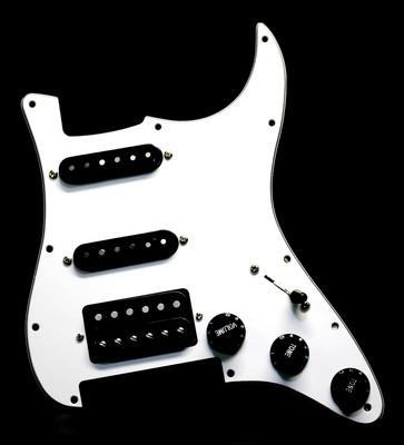 Carparelli HSS White Floyd Rose® Strat® 11 Hole Fully Loaded Pickguard White