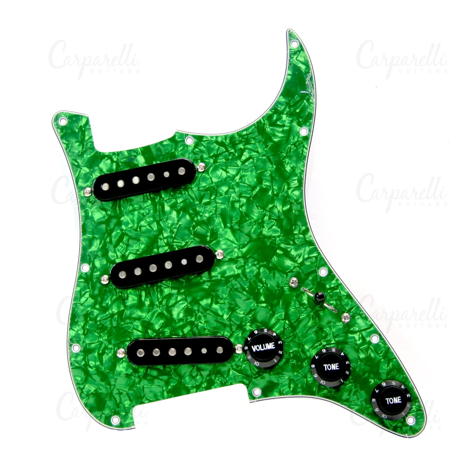 Carparelli Pre-Wired SSS Green Pearloid for Stratocaster®