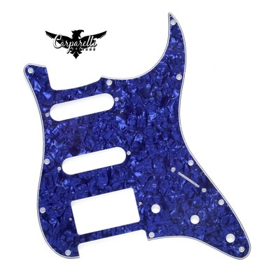 Carparelli HSS Strat® Pickguard 11 Holes 4 Ply Pearloid Blue