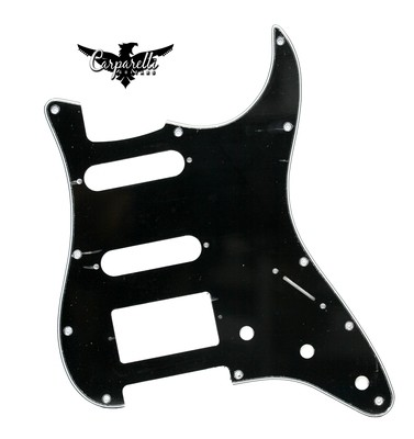 Carparelli HSS Strat® Pickguard 11 Holes 3 Ply Black