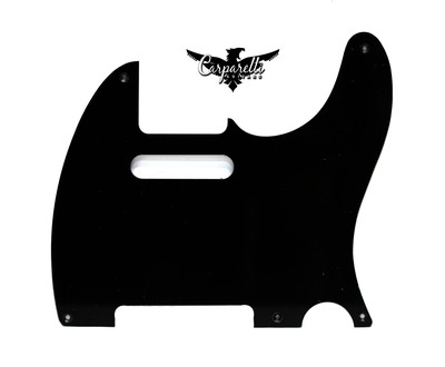 Carparelli Vintage 5 Hole Tele® Pickguard RH  1 Ply Black
