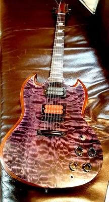 Custom Built Carparelli Purple Royale SG