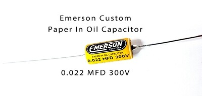 Emerson Paper in Oil Capacitors - 0.022uf 300v (yellow) 2019 Classic
