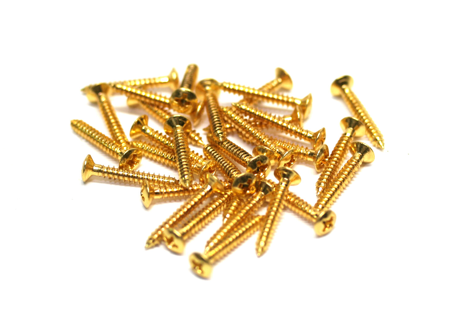 Brio 10 Pack Bridge Mounting Screws 3mmD 22mm L Gold