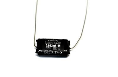Del Ritmo Vitamin-Q .022uf 630V Oiled Paper Black Candy Tone Capacitor Black