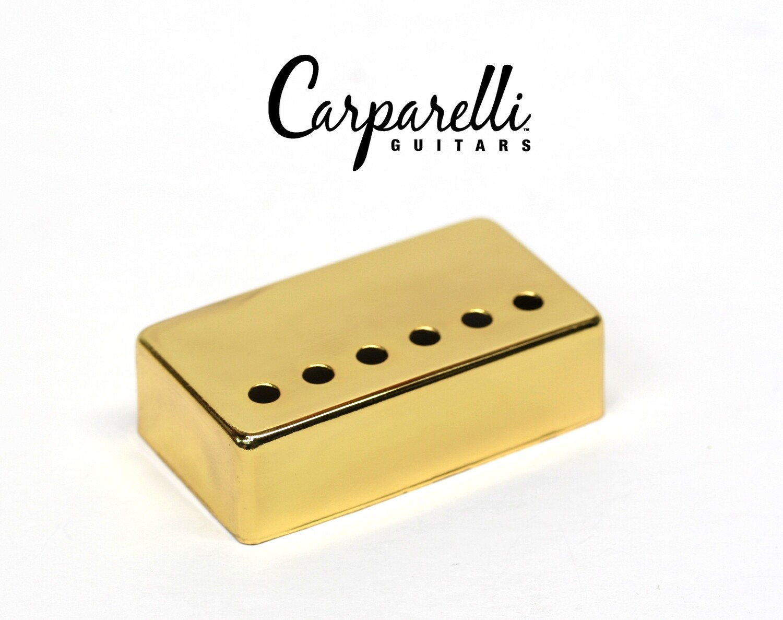 1 x Carparelli Metal Humbucker Cover 50mm Gold