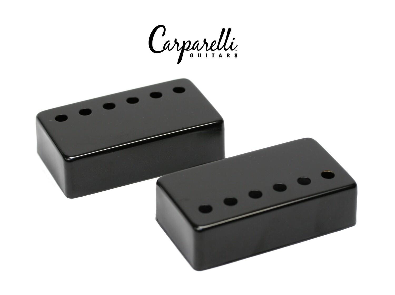 Carparelli Metal Humbucker Cover 52mm Pair Set Black