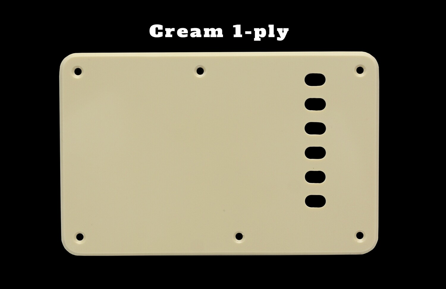 Cream Vintage Style Back Plate Tremolo Cover 1 ply - US/Mexican Fender®Strat® Fit