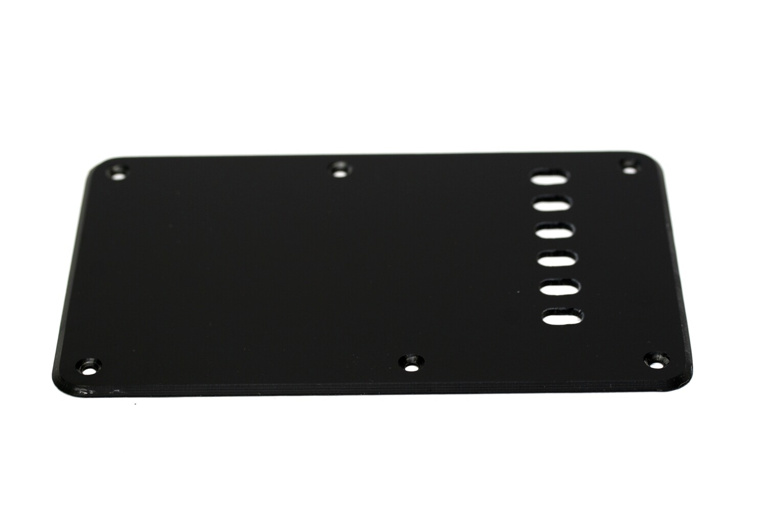 Matte Black Vintage Style Back Plate Tremolo Cover 1 ply - US/Mexican Fender®Strat® Fit