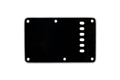 Black Vintage Style Back Plate Tremolo Cover 3 ply - US/Mexican Fender®Strat® Fit