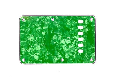 Pearl Green Vintage Style Back Plate Tremolo Cover 4 ply - US/Mexican Fender®Strat® Fit