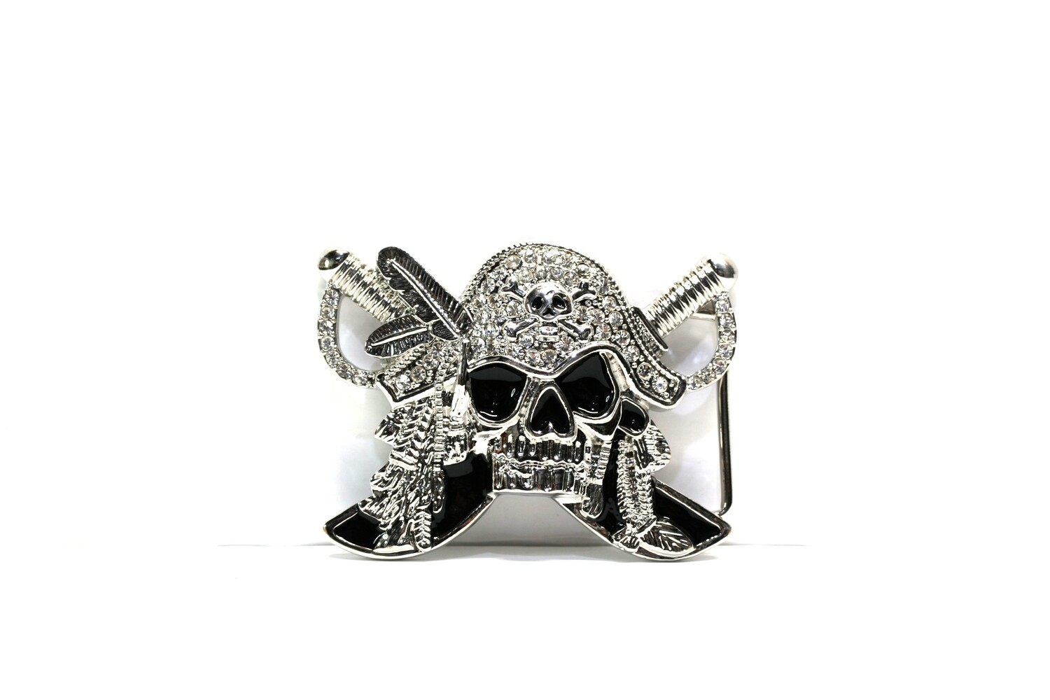 Arrrh Billy Pirate Skull Belt Buckle Bejewelled