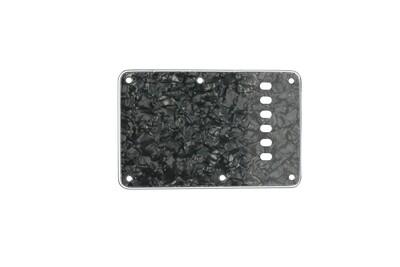 Brio Pearloid Black Vintage Style Back Plate Tremolo Cover 3 ply -US/Mexican Fender®Strat®