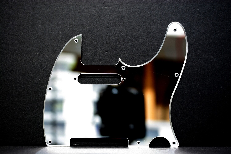 Brio 8 Hole Guitar Tele® Pickguard MIRROR Acrylic