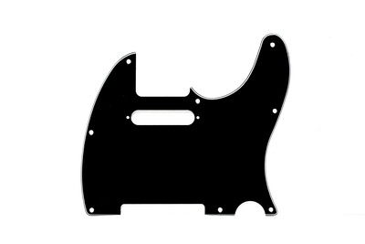 Brio 8 Hole Guitar Tele® Pickguard RH 3 Ply Black