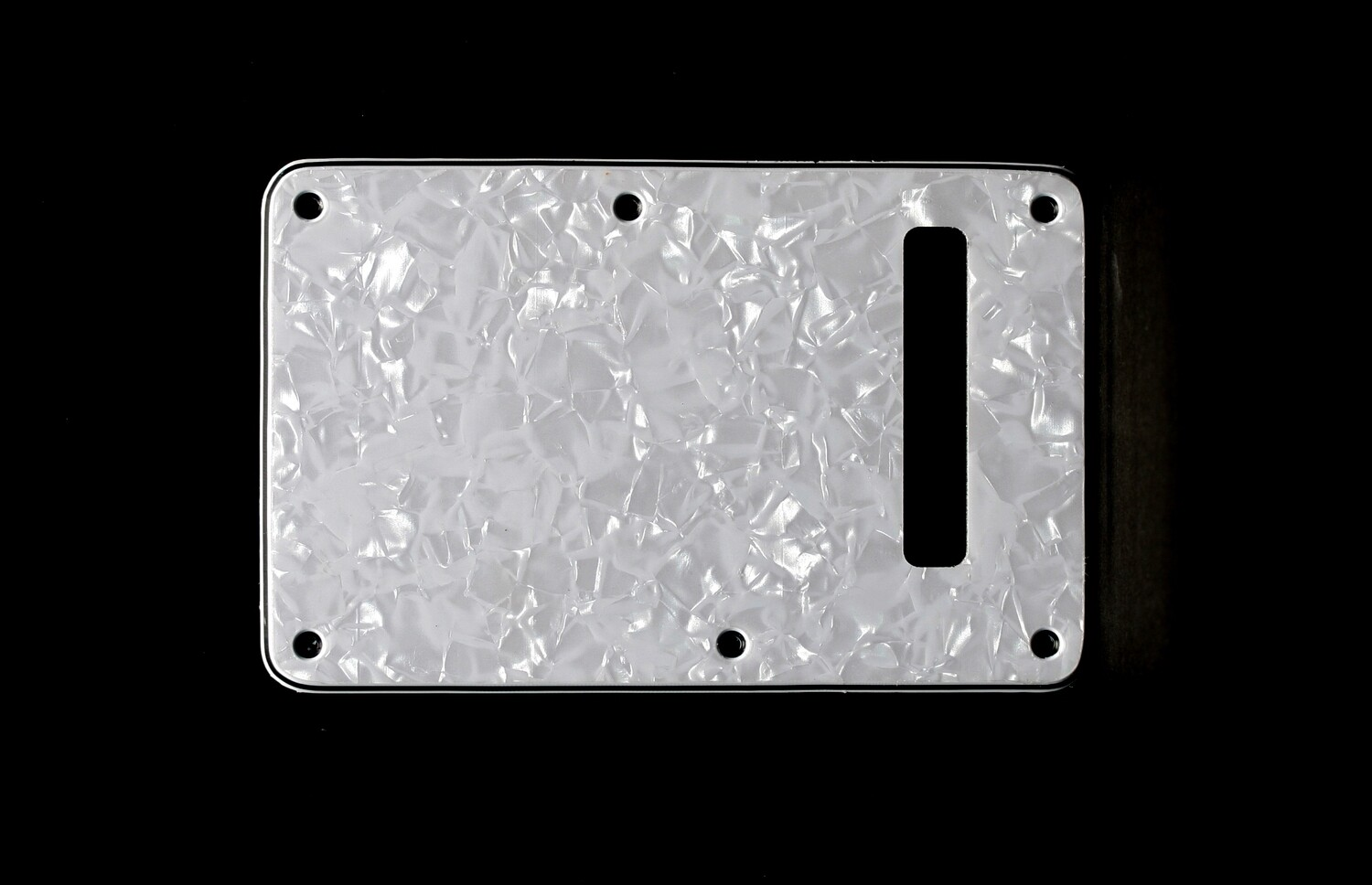 Brio Pearl White Modern Style Back Plate Tremolo Cover 3 ply - US/Mexican Fender®Strat® Fit
