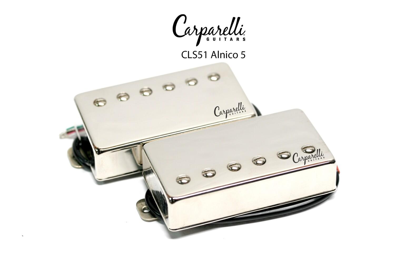 Carparelli CLS51 Alnico 5 Vintage Nickel Humbucker Set Neck/Bridge