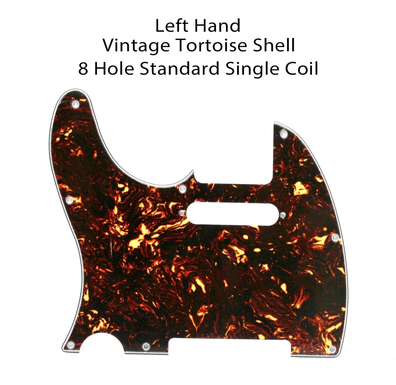 LEFT HAND Brio 8 Hole Tele® Vintage Tortoise Shell