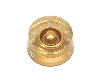 Gold Speed knobs vintage style numbers, fits USA split shaft pots.