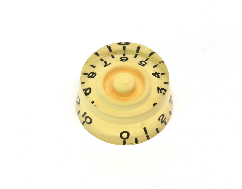 Cream Speed knobs vintage style numbers, fits USA split shaft pots.