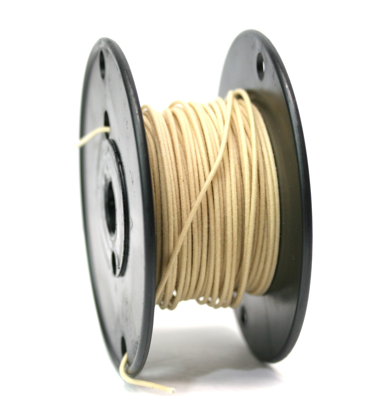 1 foot Premium USA Vintage Stranded Core Push-back Cloth Wire White