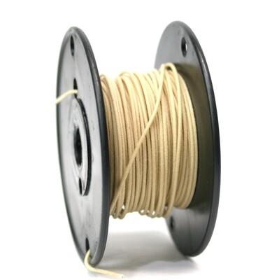 Premium USA Vintage Stranded Core Push-back Cloth Wire White