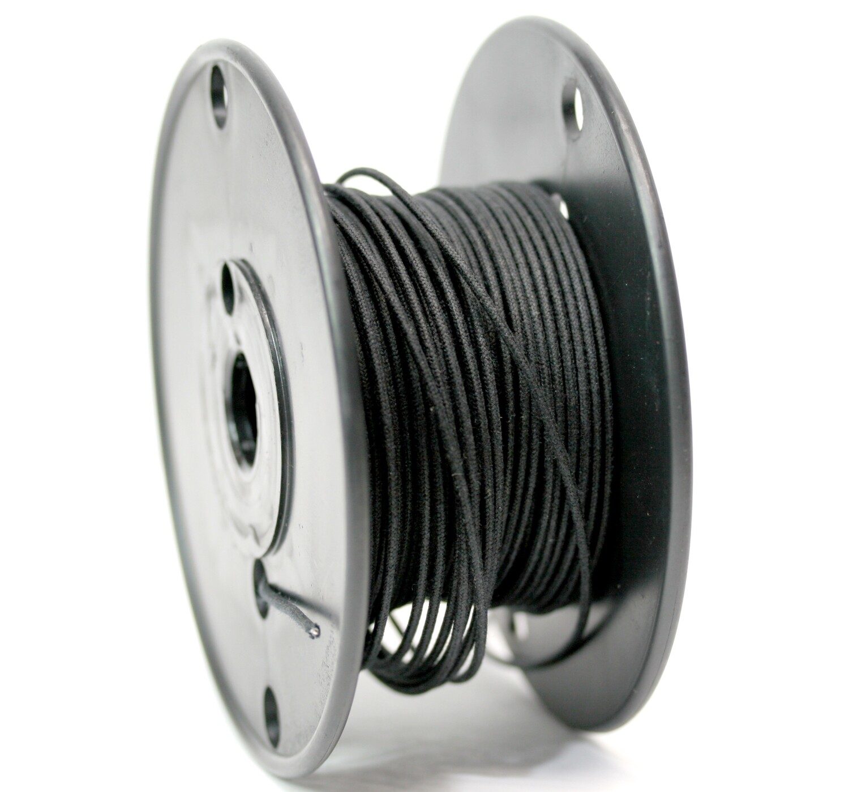 1 foot Premium USA Vintage Stranded Core Push-back Cloth Wire Black