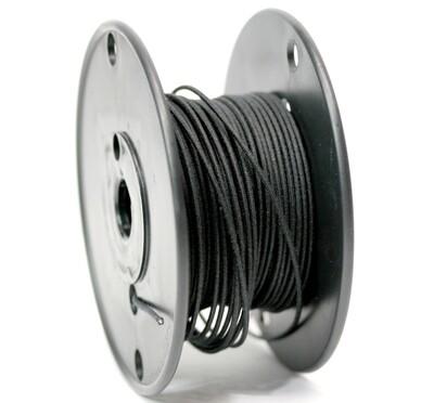Premium USA Vintage Stranded Core Push-back Cloth Wire Black