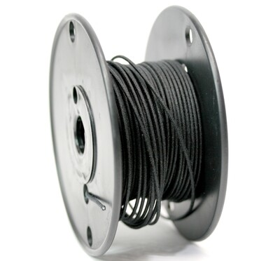 50ft Premium USA Vintage Stranded Core Push-back Cloth Wire. Black