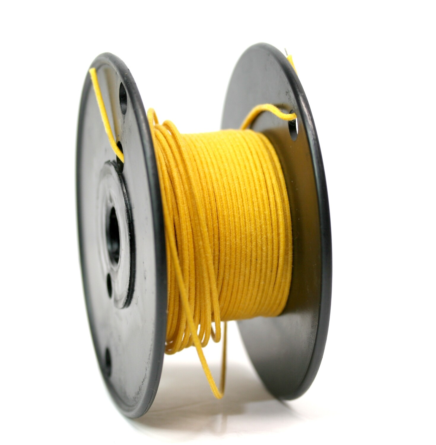 1 foot Premium USA Vintage Stranded Core Push-back Cloth Wire Yellow
