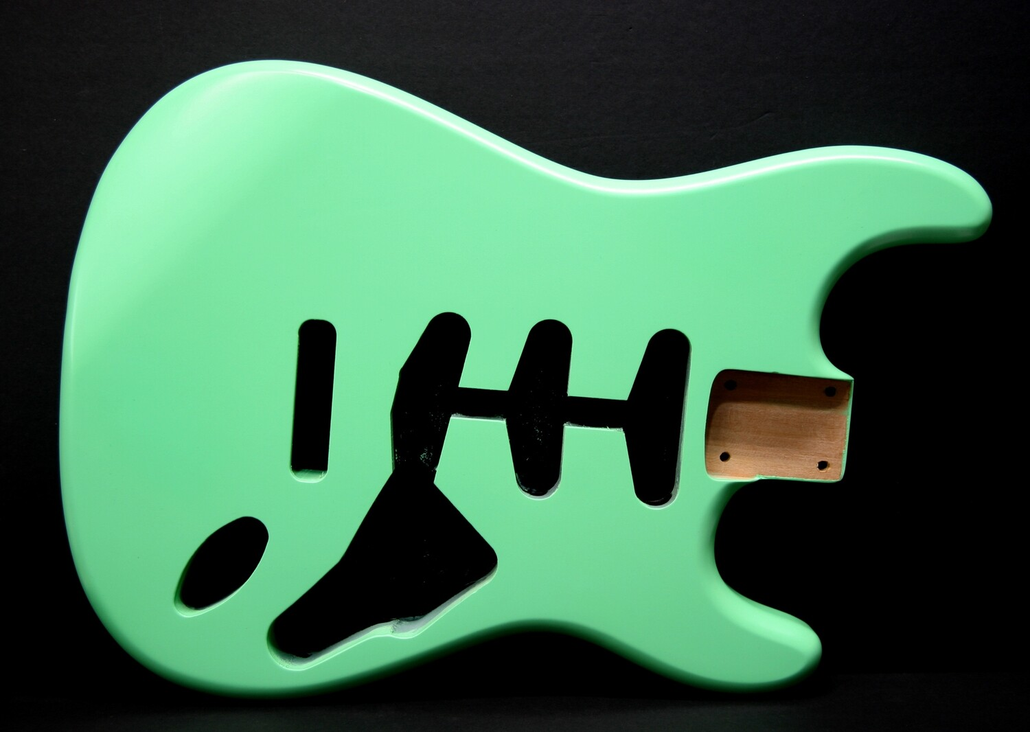 Brio Strat SSS Style Body Nitro Satin 2pc Alder Surf Green