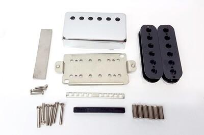 Pickup Kit - Nickel Silver Cover & Baseplate 50mm Humbucker Alnico 5