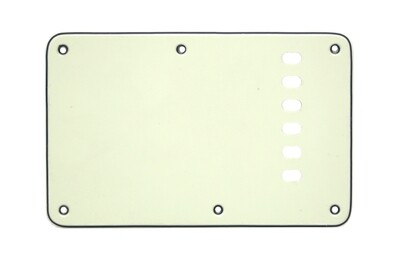 Brio Mint Green Vintage Style Back Plate Tremolo Cover 3 ply - US/Mexican Fender®Strat® Fit