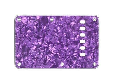 Pearl Purple Vintage Style Back Plate Tremolo Cover 4 ply - US/Mexican Fender®Strat® Fit